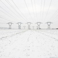 Snow covered Pylons